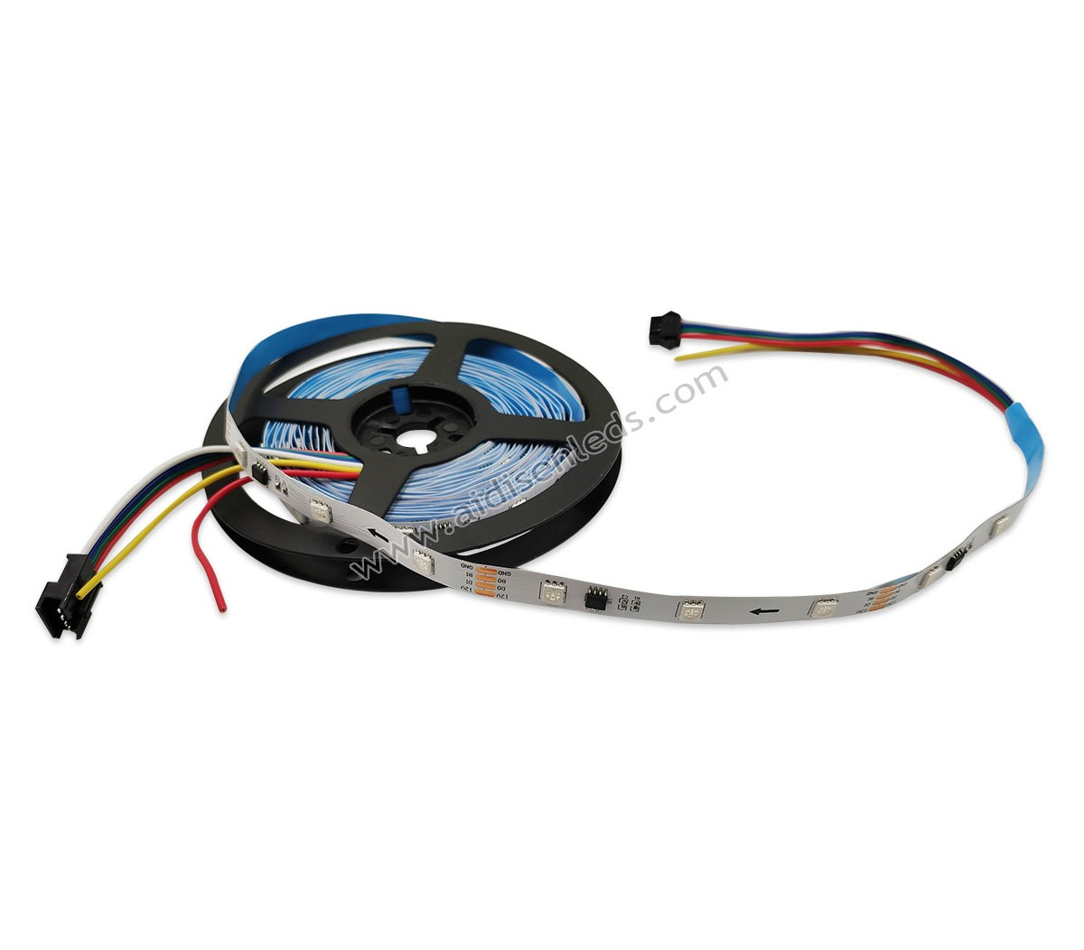 ADS-10030-1934A  DC12V Addressable digital 5050RGB TM1934 changing color led strip