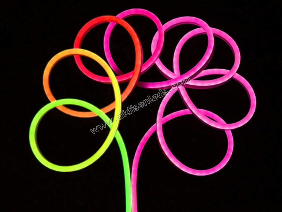 ADS-NL2012-60D  20*12mm sm16703 RGB 12v led neon flex Strip Lighting